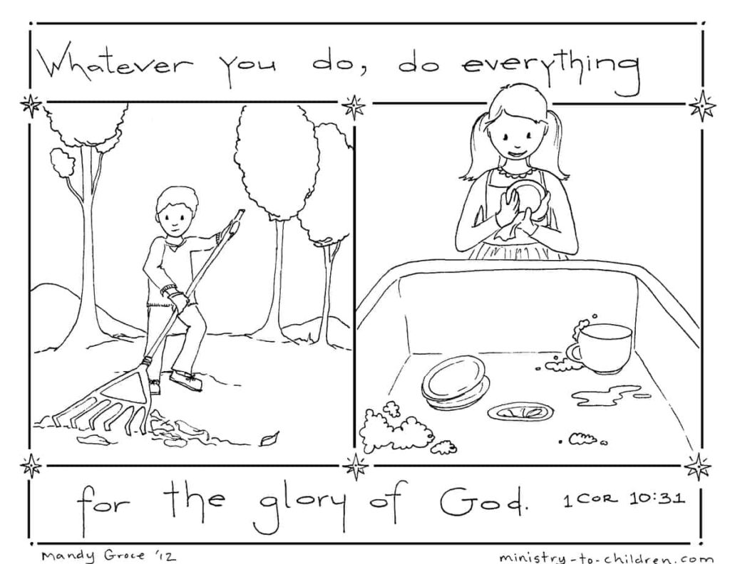 coloring page - Do Everything for the Glory of God