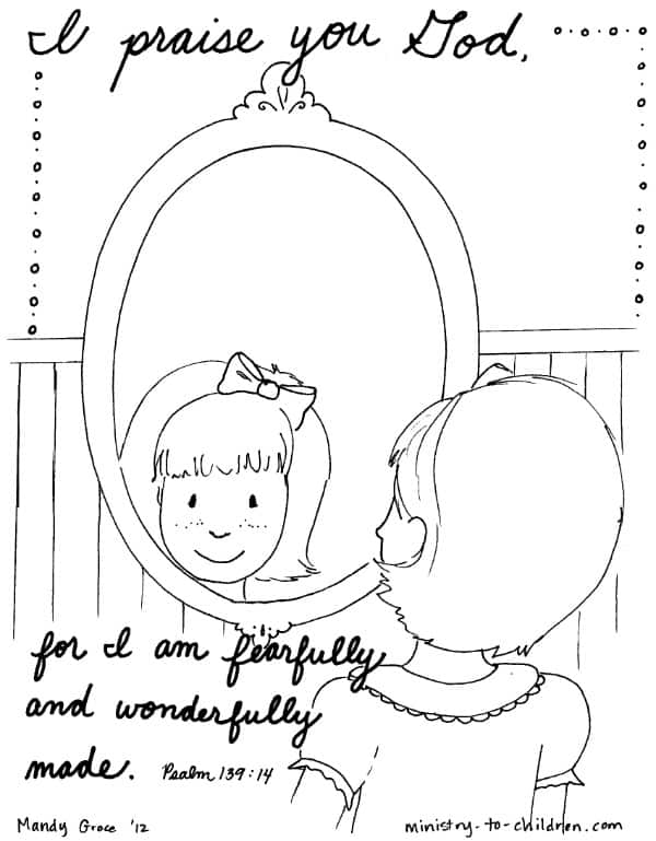 Psalm 139 14 Coloring Page