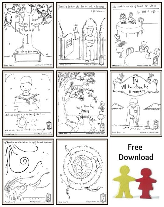 Psalm One Coloring Pages Free To Print