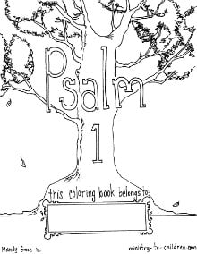 Psalms Coloring Sheets for Kids
