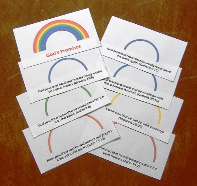 rainbow booklet craft on God's promises