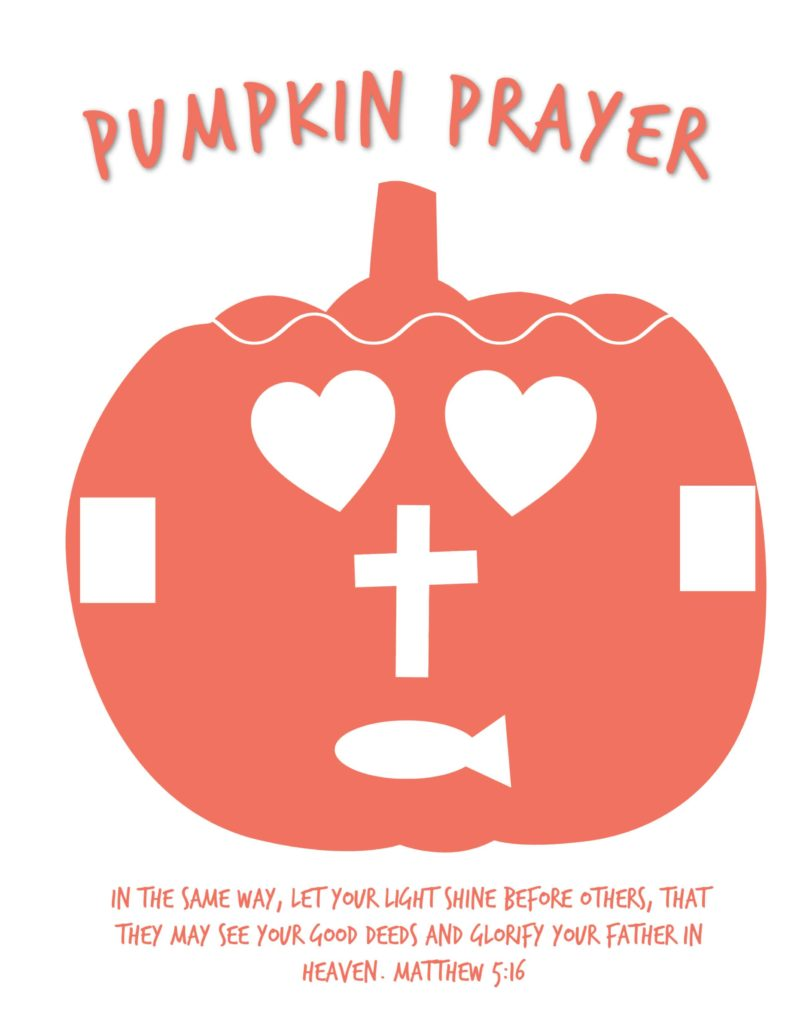 Pumpkin Prayer Printable Template Activity