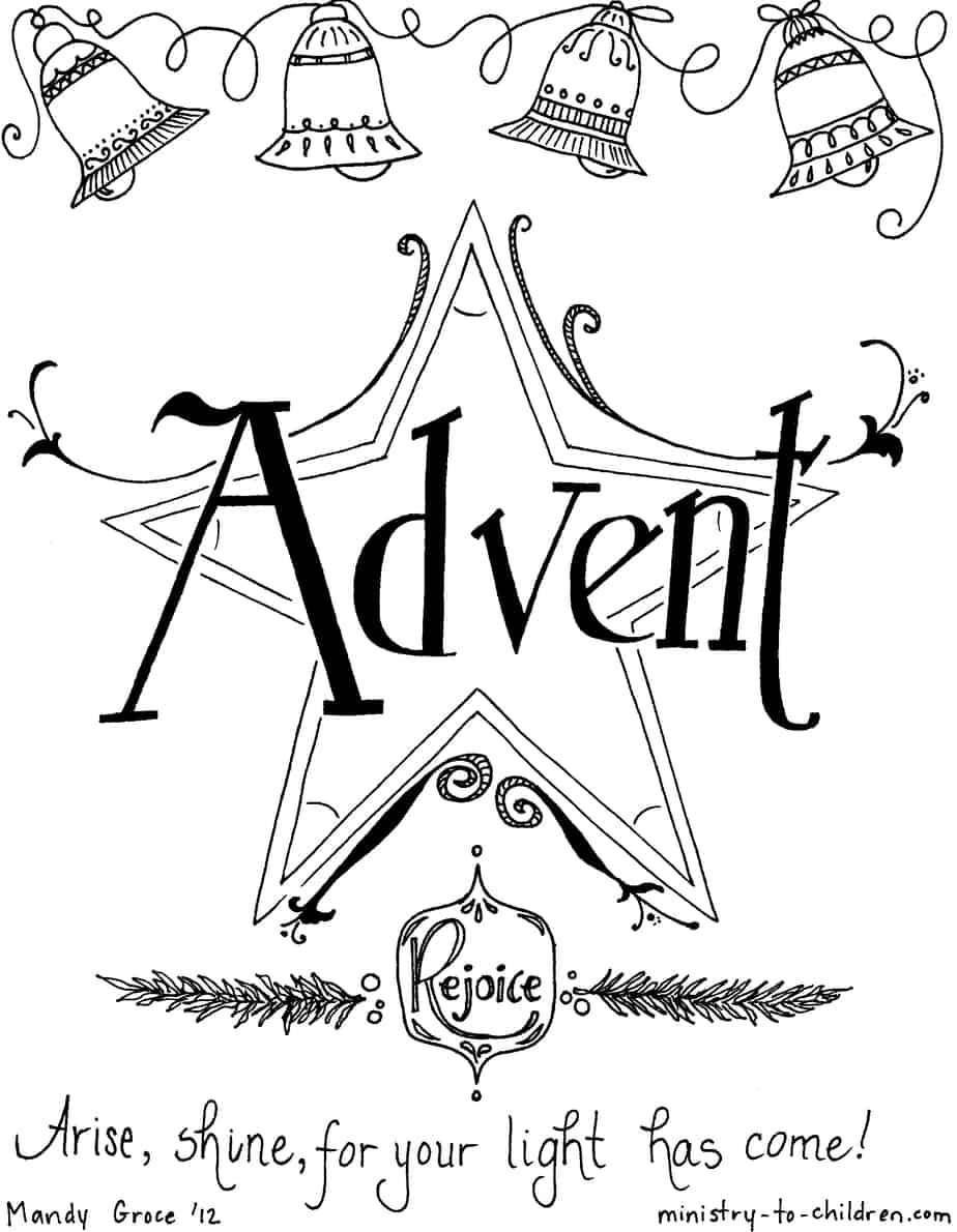Free Coloring Pages Of Second Sunday Of Advent Advent Colouring Pages