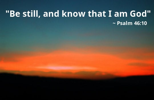 "Preschool Bible Lesson ""Be Still and Know"" 