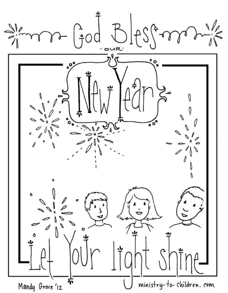 new years resolution coloring pages | New Years Sunday School Lesson (Luke 18:18-27) Ministry-To ...