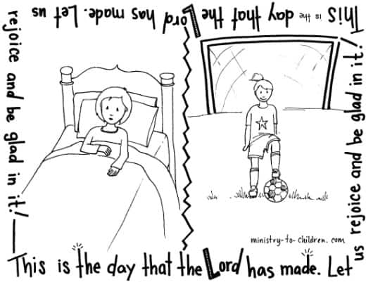 Psalm 118 Coloring Page Quot This Is The Day That The Lord Has