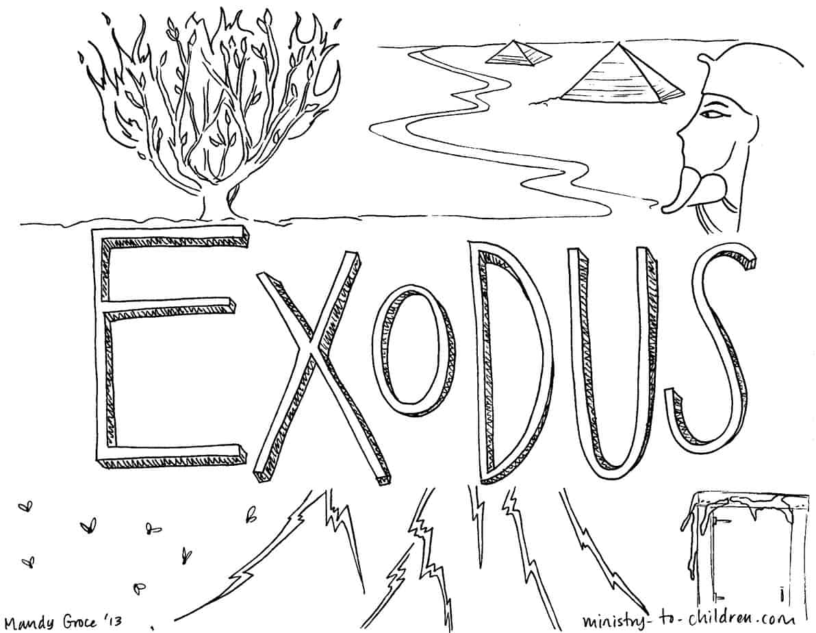 quot Book of Exodus quot Bible Coloring Page for Children