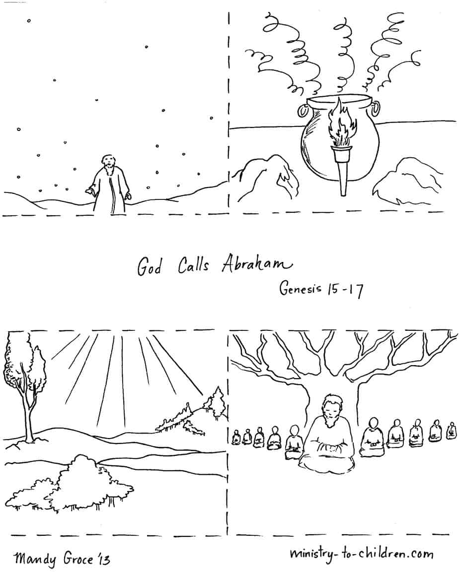 Abraham Printable - Bible Coloring Pages (Kids Bible Maps) | 1153x924