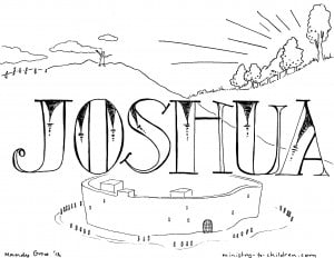"joshua chapter 10 coloring pages | ""Book of Joshua"" Bible Coloring Page for Children"