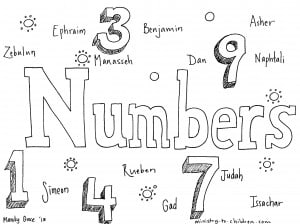 """Numbers"" Bible Coloring Page"