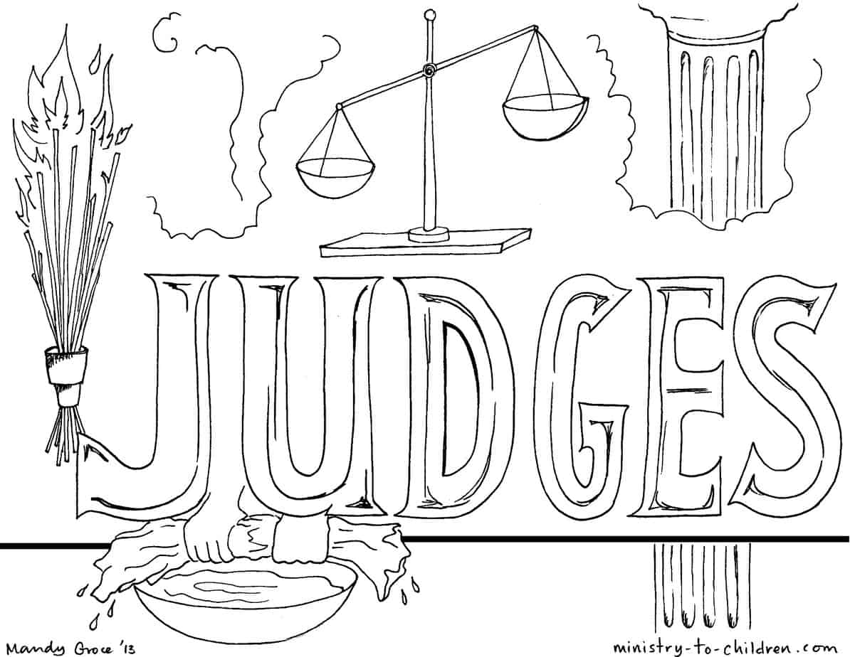 quot Book of Judges quot Bible Coloring Pages