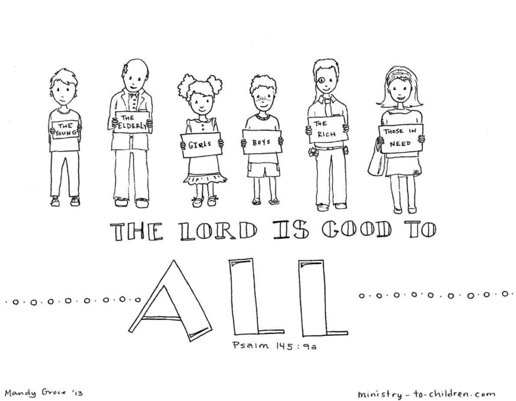 u201cthe lord is good to all u201d coloring page