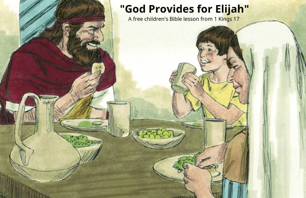 Elijah And The Widow Activities