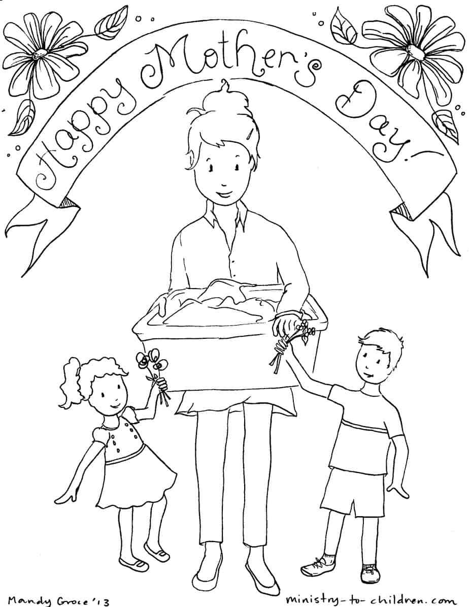 Mother S Day Coloring Pages 100 Free Easy Print Pdf