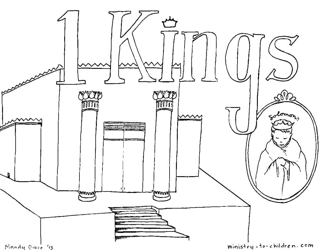 """""""Book of 1 Kings"""" Bible Coloring Page"""