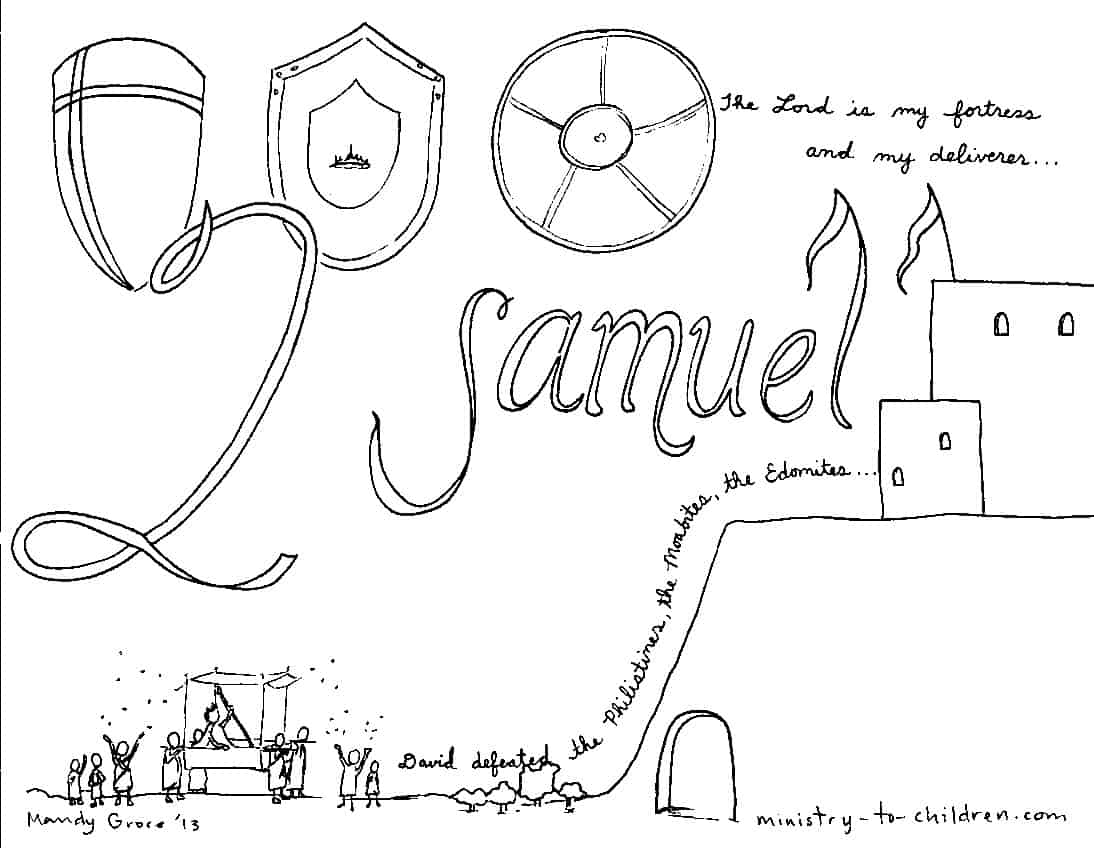 Book Of 2 Samuel Bible Coloring Page