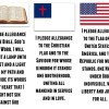 Printable VBS Pledges - Christian Flag, American Flag, Bible Pledge