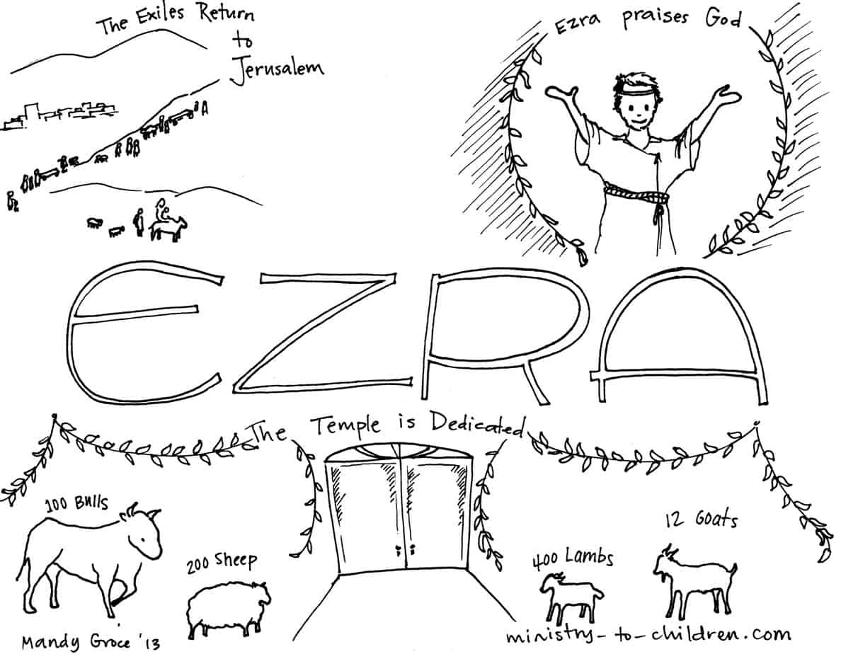 ezra and nehemiah coloring pages - photo#2