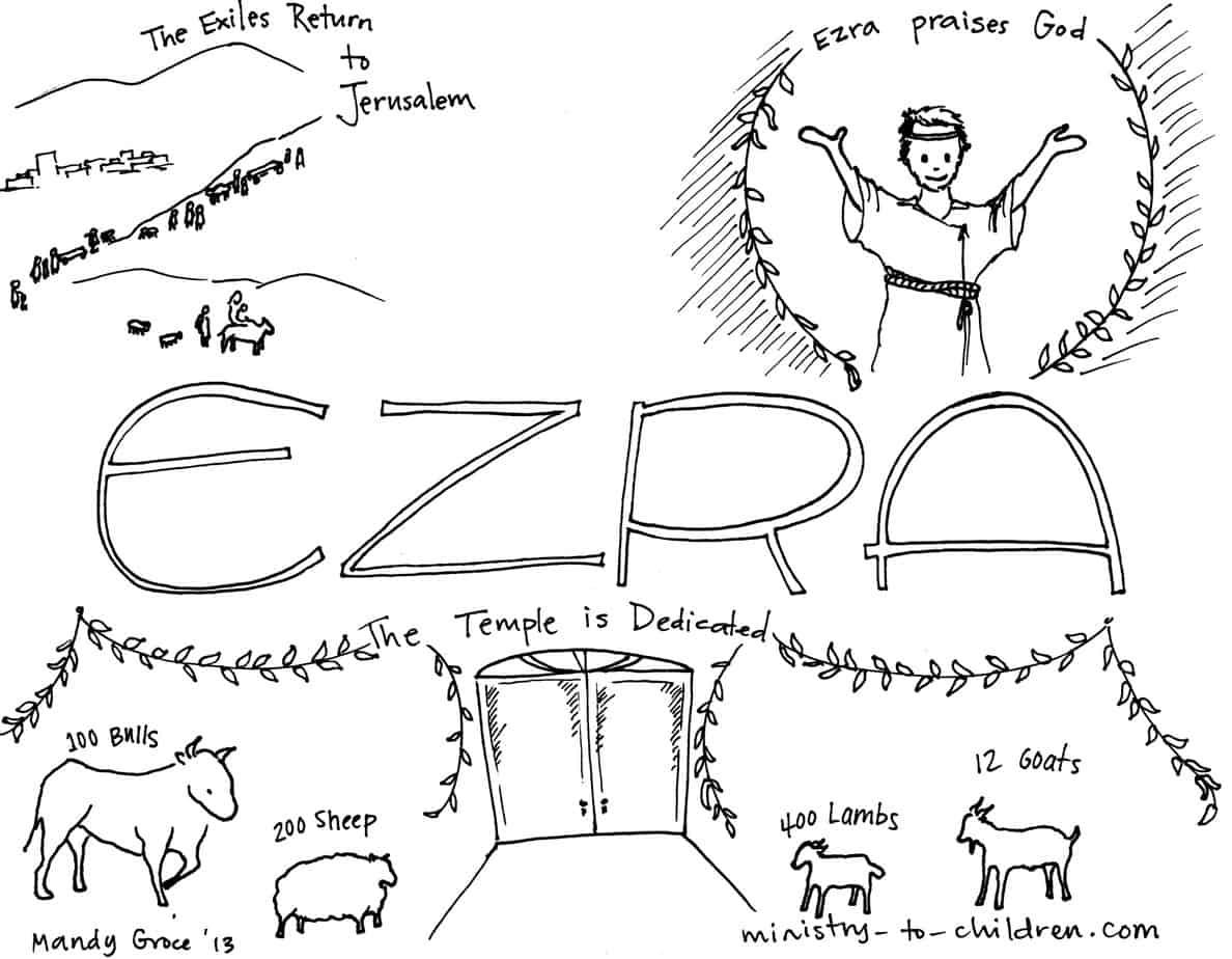 Ezra Read The Bible Free Colouring
