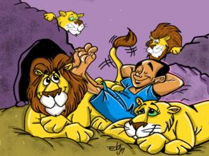 Daniel in the Lion's Den cartoon picture