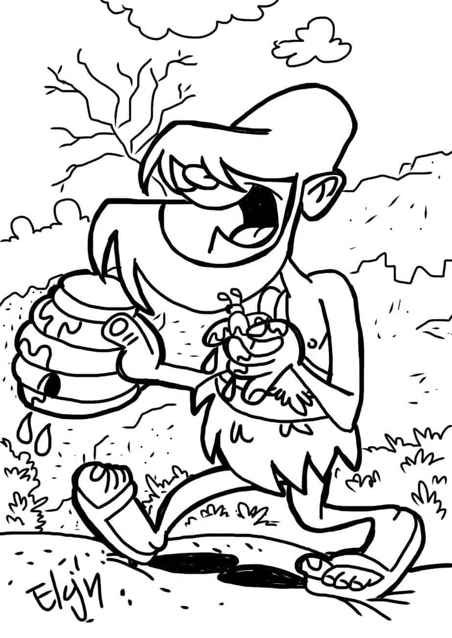coloring pages john the baptist - photo#11