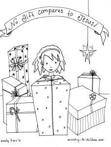 Jesus is the greatest gift coloring page for kids