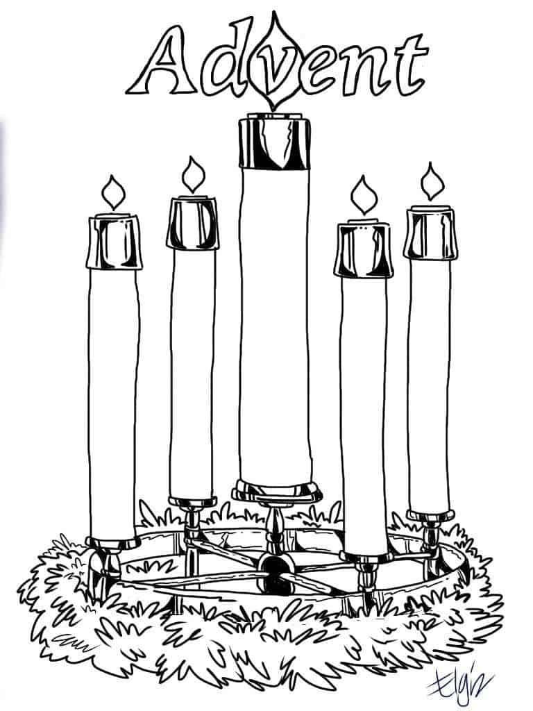Advent Candles Coloring Pages
