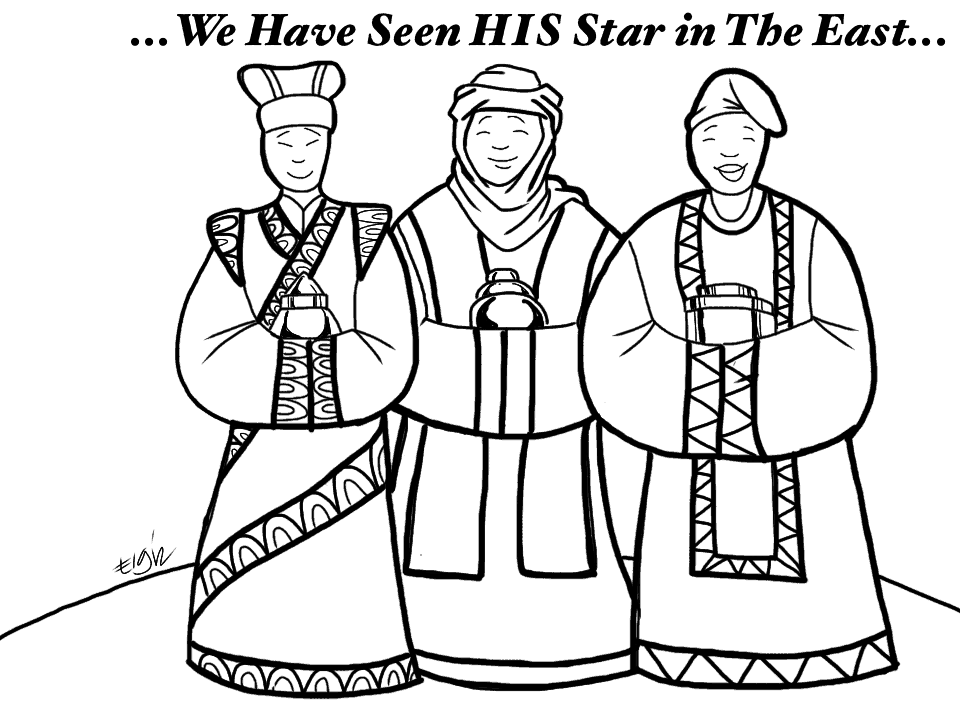 Wise men follow his star coloring page for Wisemen coloring pages