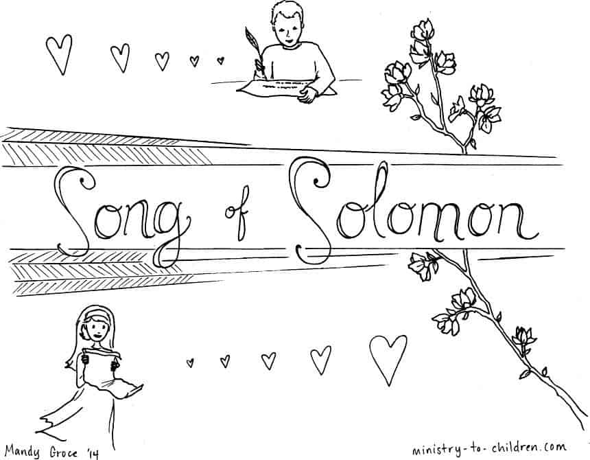 Song Of Solomon Bible Book Coloring Page