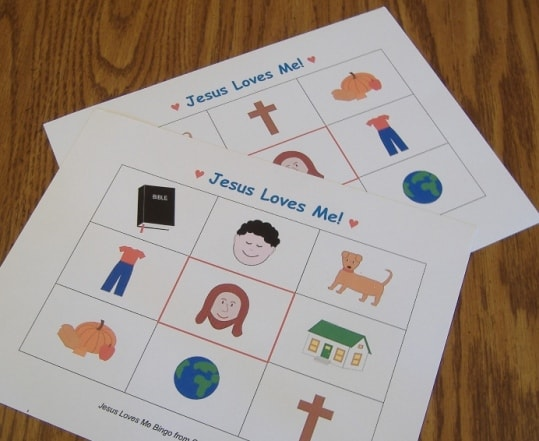 Jesus Loves Me Bingo (Free Printable Game)
