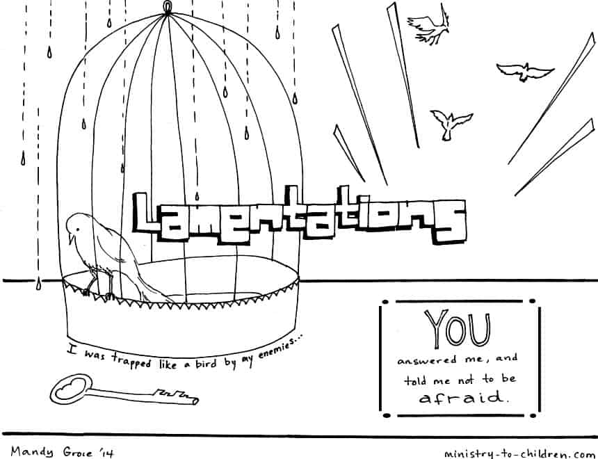 Bible Book of Lamentations - free coloring page