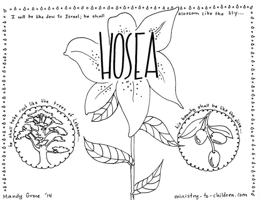 Book of Hosea Bible Coloring Page