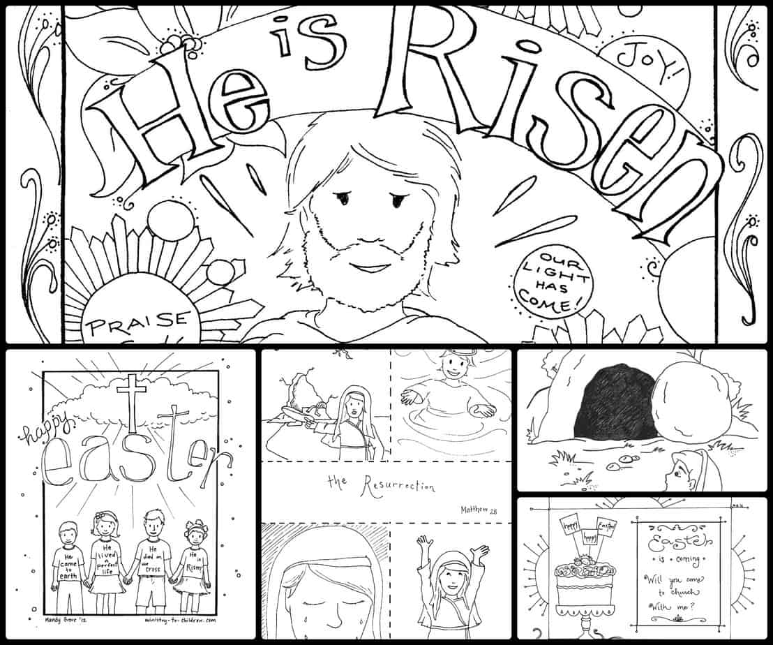 15 Easter Coloring Pages Religious