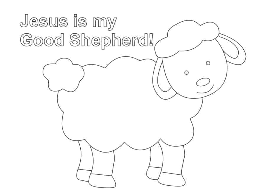 Lost Sheep Coloring Page for Preschoolers
