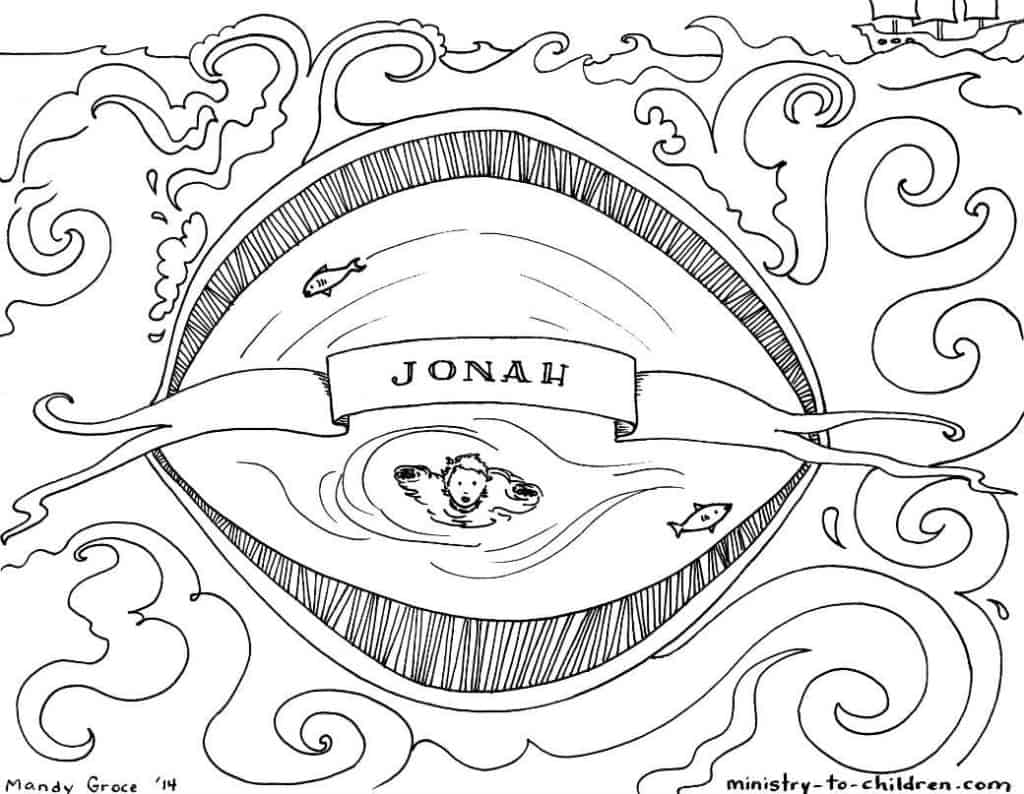 Jonah bible coloring page for The bible coloring page