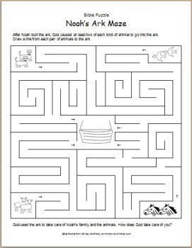 image about Noah's Ark Printable called Bible Puzzle: Noahs Ark Maze - Ministry-Toward-Youngsters