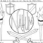 Nahum Bible Coloring Page