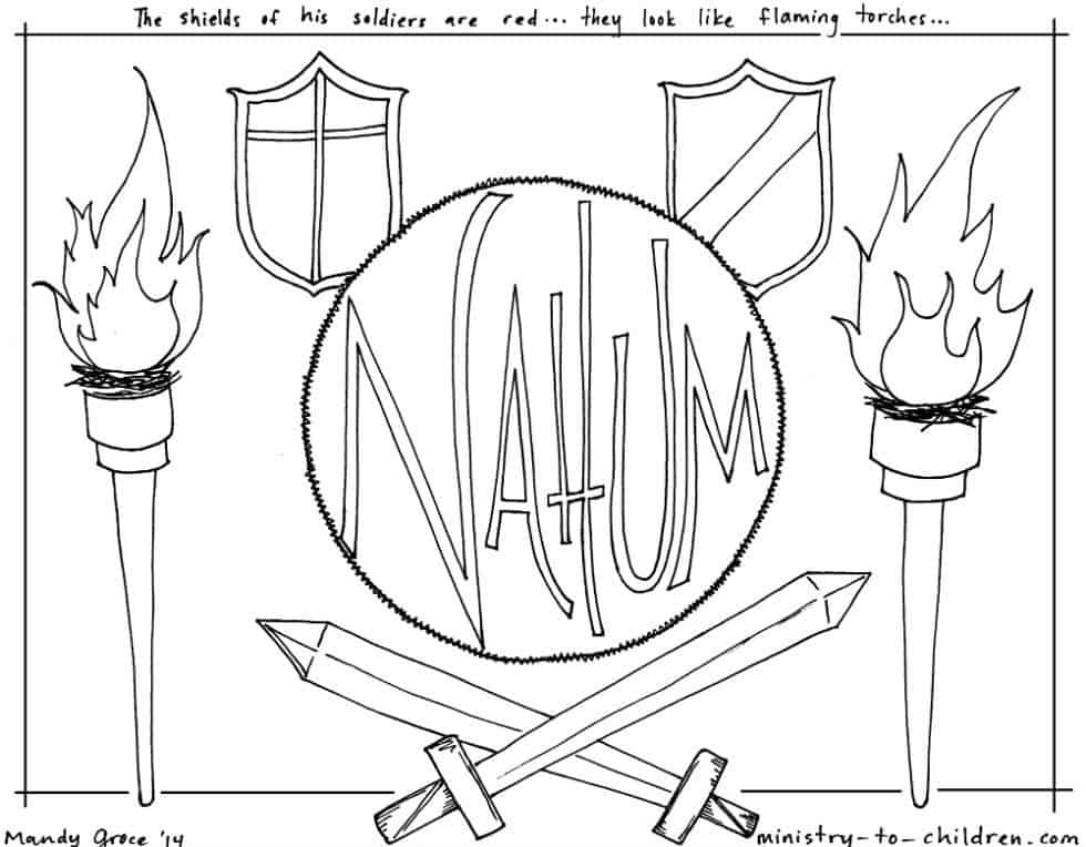 Nahum Bible Coloring Page MinistryToChildren
