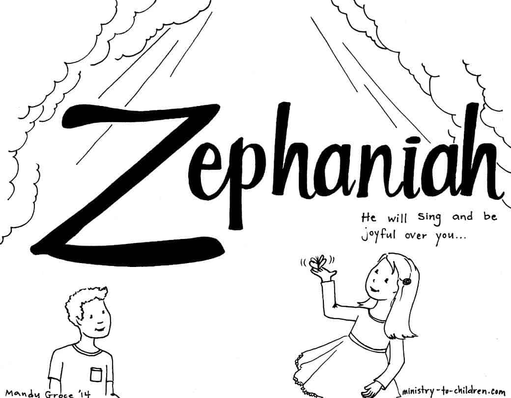Zephaniah Bible Coloring Page MinistryToChildren