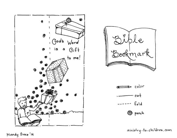 Bible Bookmark Coloring Pages