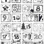 countdown to Christmas coloring sheet
