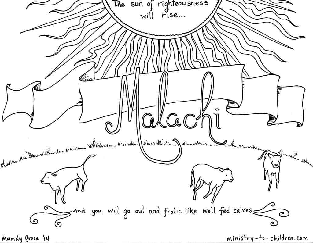 Malachi Bible Coloring Page MinistryToChildren