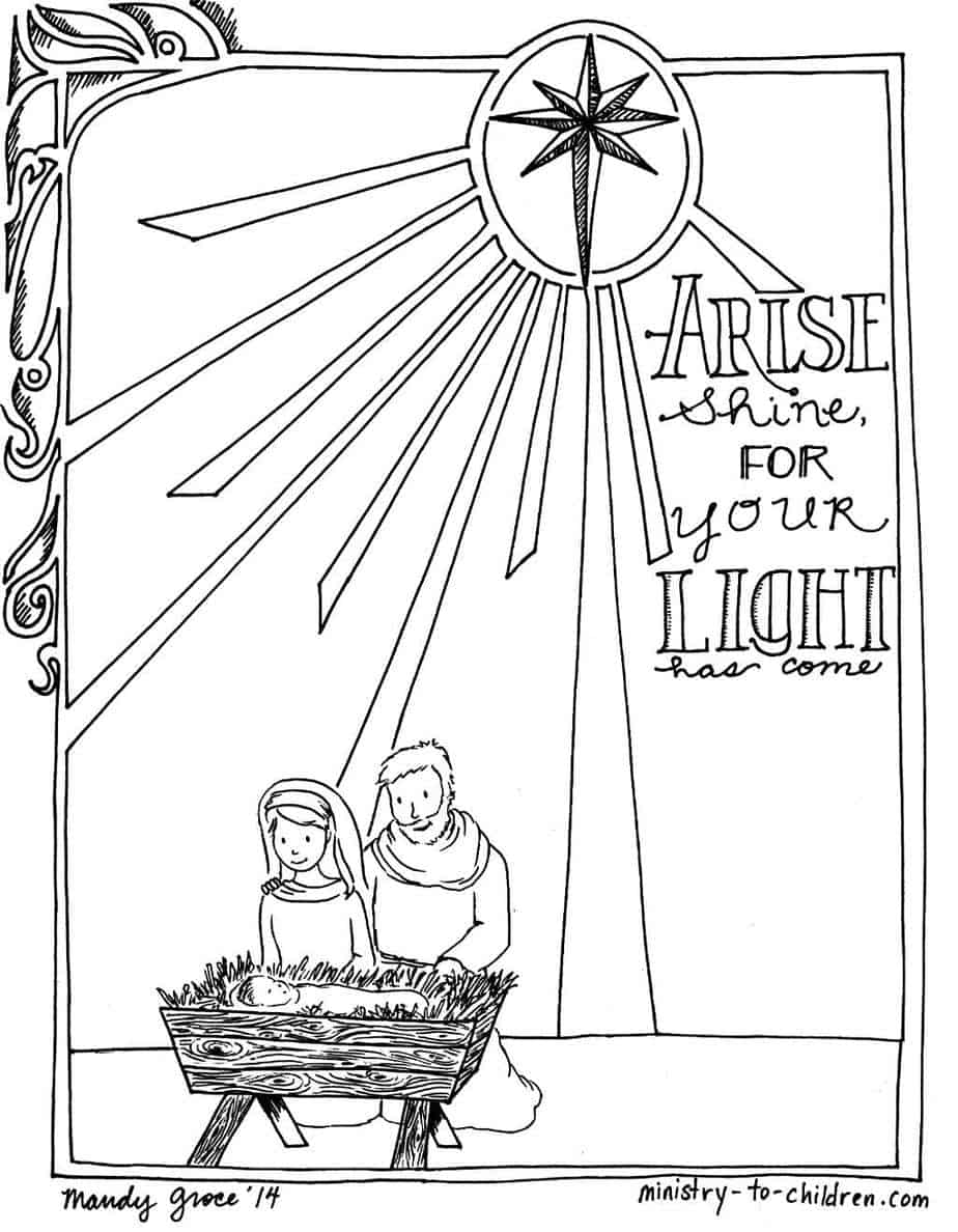 Printable Christmas Nativity Coloring Pages Ministry To Children