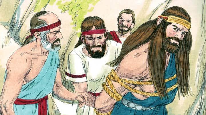 Bible Memory Verse Coloring Page Samson Christian Children Bible ... | 404x720