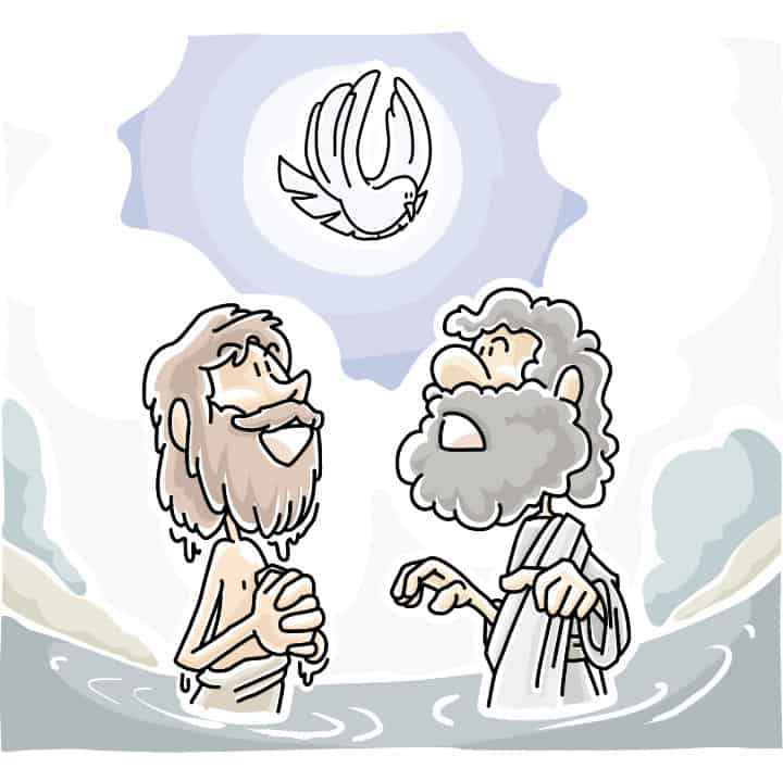 Jesus Baptism Lesson for Preschool Bible Class
