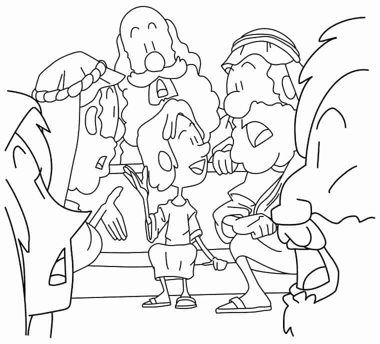 coloring pages jesus temple - photo#3