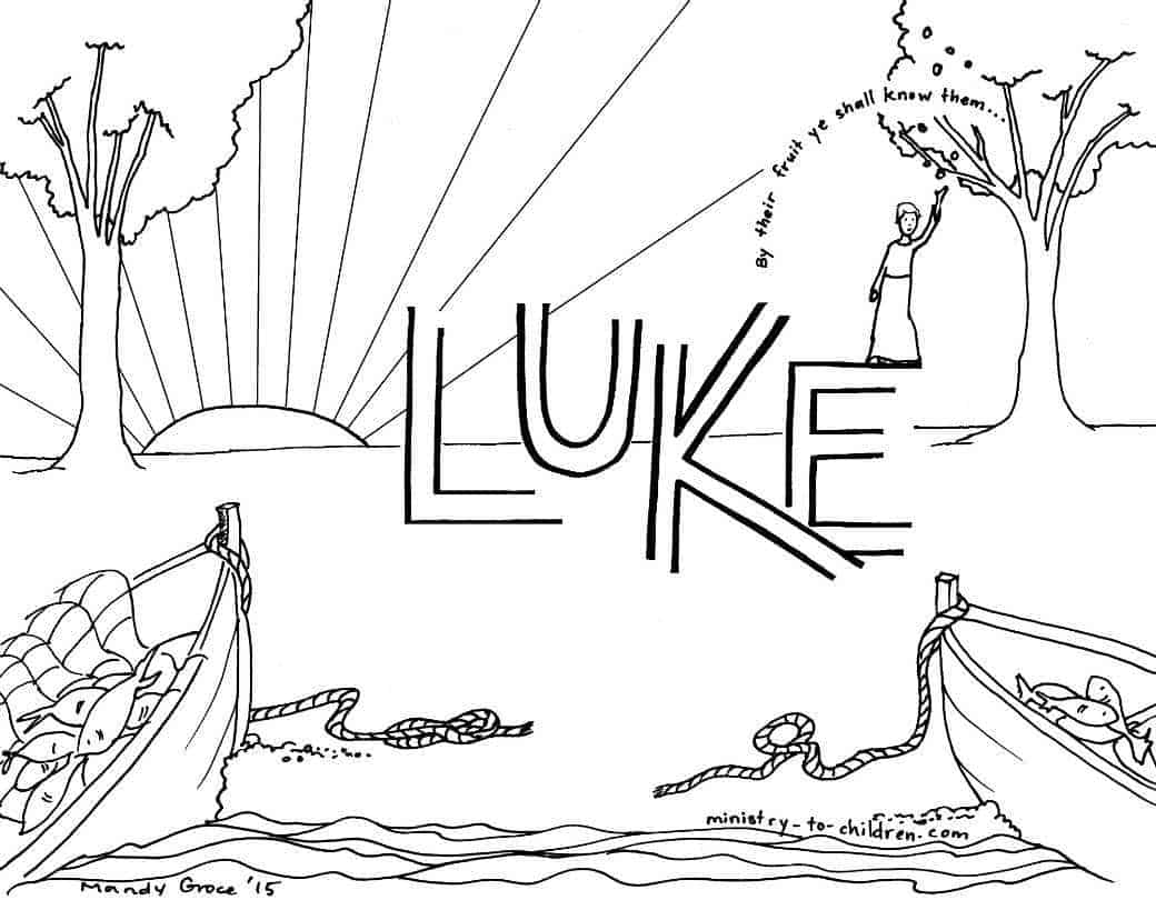 """Luke"" Bible Book Coloring Page"
