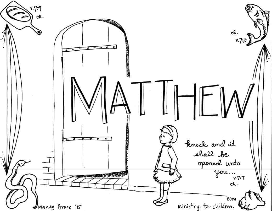 matthew bible book coloring page