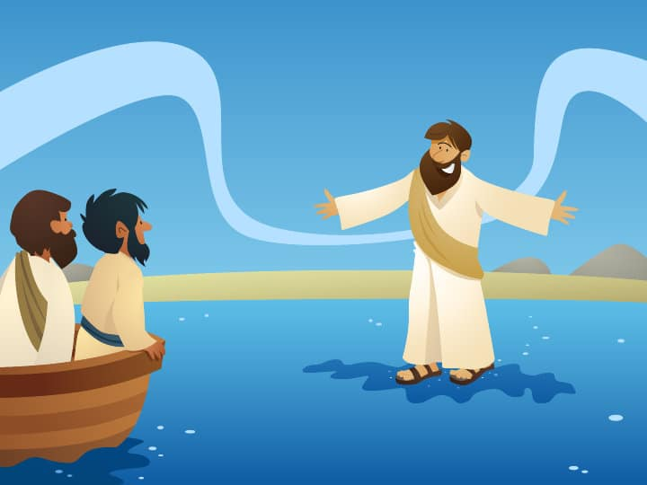 Lesson Jesus Walks On Water Matthew 14 22 33 Mark 6 45