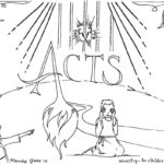 "Free ""Book of Acts"" Bible Coloring Page"